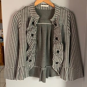 Military style open front cardigan
